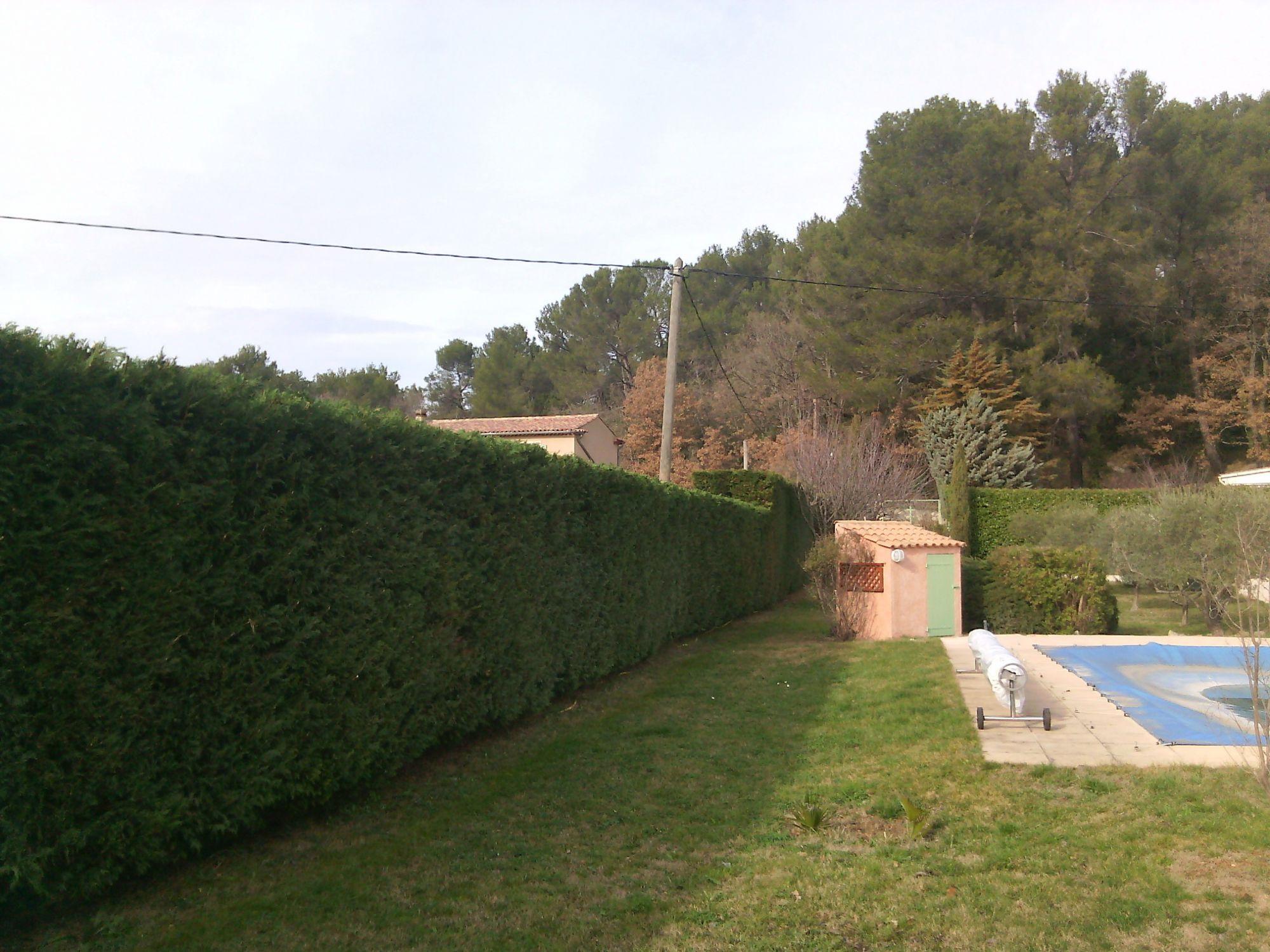 Jardin nans les pins entretenu par jade espaces verts for Cout haie jardin